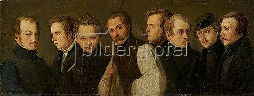 Heinrich Franz Gaudenz von Rustige: Bildnisse der Düsseldorfer Malerschule. 1835