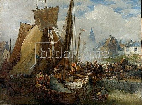 Andreas Achenbach: Der Fischmarkt in Ostende. 1876