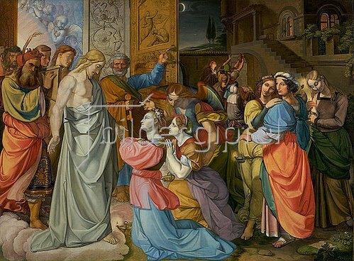 Peter von Cornelius: Das Gleichnis von den klugen und törichten Jungfrauen (unvollendet). 1813-1816