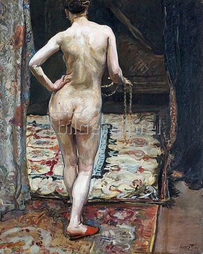 Max Slevogt: Weiblicher Rückenakt. 1905