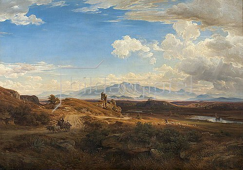 Eduard Wilhelm Pose: Campagna-Landschaft bei Torre del Quinto. 1855