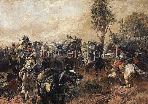 Theodor Rocholl: Der Kampf um die Standarte. 1891
