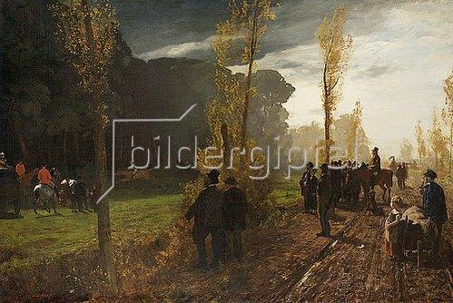 Louis Kolitz: Pferderennen bei Benrath am Rhein.