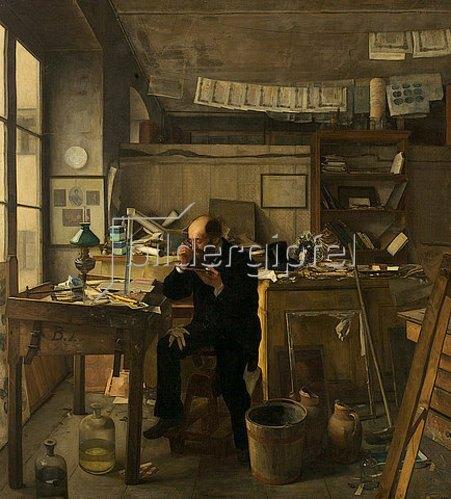 Ernst te Peerdt: Ein Heliograph in seinem Atelier (Der Banknotenfälscher). 1876
