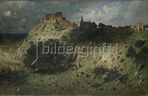 Theodor Hagen: Burg Nideggen. Um 1883