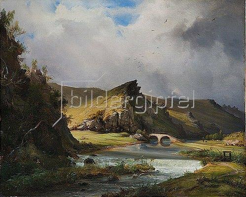 Caspar Scheuren: Alexisbad im Harz. 1841