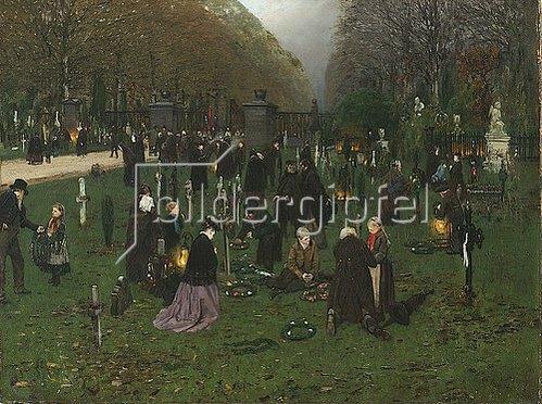 Alfred Böhm: Allerseelen auf einem rheinischen Friedhof. 1873