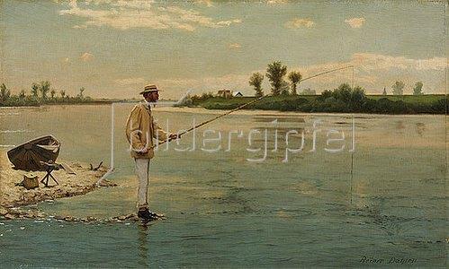 Reiner Dahlen: Der Angler. Um 1870