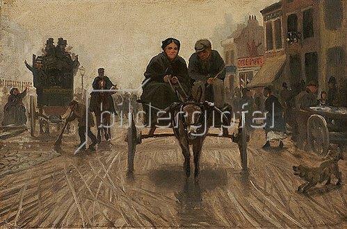 Reiner Dahlen: Straße in London (Studie). Um 1870