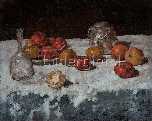 Carl Schuch: Stillleben mit Äpfeln. 1889