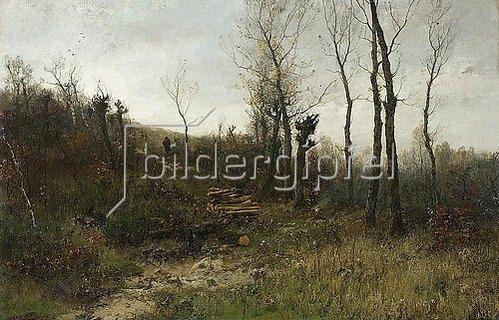 Georg Oeder: Waldlandschaft mit Schäfer. Um 1885-95