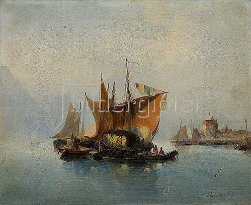 Caspar Scheuren: Seestück. 1837