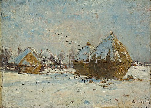 Helmuth Liesegang: Winterlandschaft. 1898