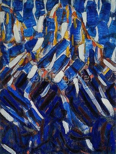Christian Rohlfs: Abstraktion (Der blaue Berg). 1912