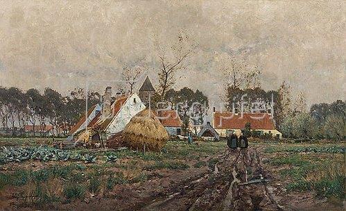 Eugen Kampf: Flandrische Landschaft. 1890