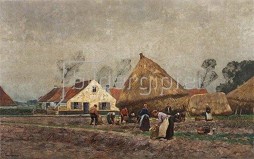 Eugen Kampf: Kartoffelernte. 1892
