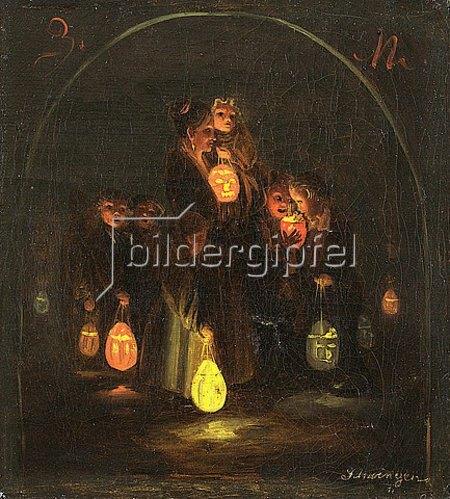 Peter Schwingen: Martinsabend. 1837