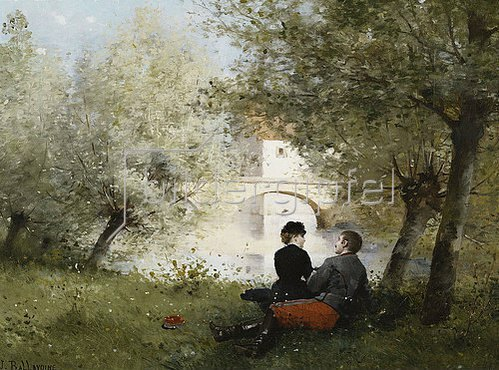 Jules Frederic Ballavoine: Nachmittag an einem Fluss.