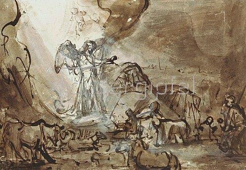Rembrandt van Rijn: Verkündigung an die Hirten.