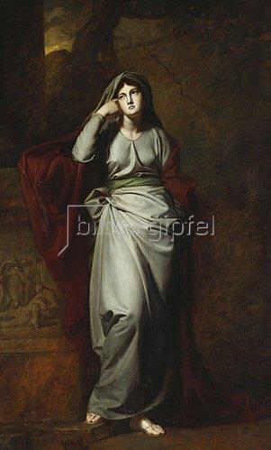 George Romney: Melancholie (Das Gemälde soll die berühmte Schauspielerin Mary Ann Yates darstellen.).