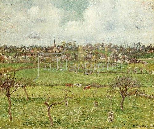 Camille Pissarro: Ansicht von Bazincourt. 1884