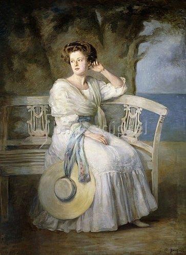 Charles Mendelssohn Horsfall: Portrait einer Dame.