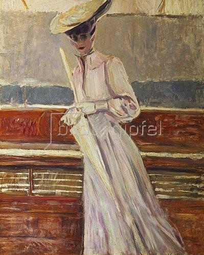 Paul César François Helleu: Madame Helleu auf einer Yacht. Um 1902