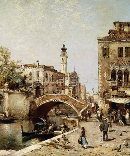 Franz Richard Unterberger: Der Kanal Santa Catarina in Venedig.