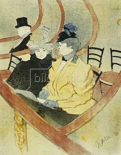 Henri de Toulouse-Lautrec: In der Loge. 1896-97