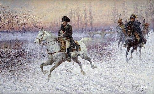 Jan van Chelminski: Napoleon mit Reitergruppe.