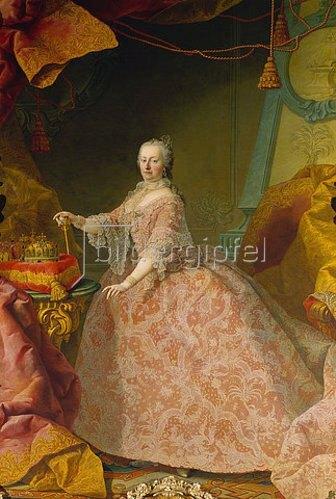 Martin Mytens (Meytens) d.J.: Maria Theresia im Spitzenkleid.