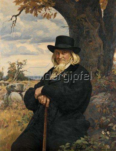 Ernst Henseler: Bildnis des Dichters Heinrich August Hoffmann von Fallersleben. 1898
