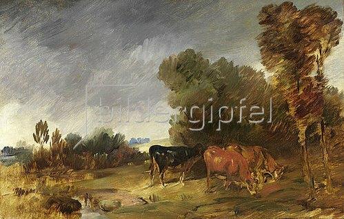 Wilhelm Busch: Große Herbstlandschaft mit Kühen. Um 1885/86