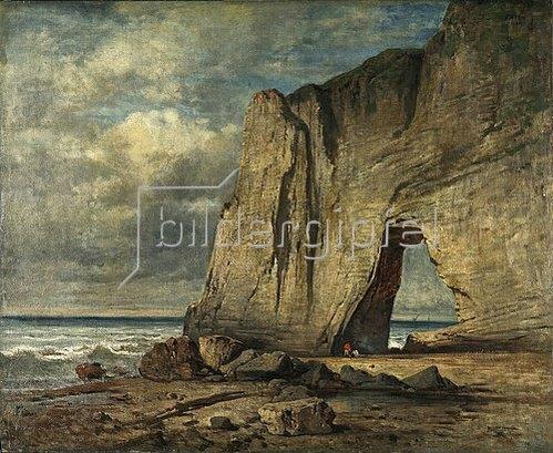 Anselm Feuerbach: Das Felsentor Manneporte bei Étretat. Um 1860