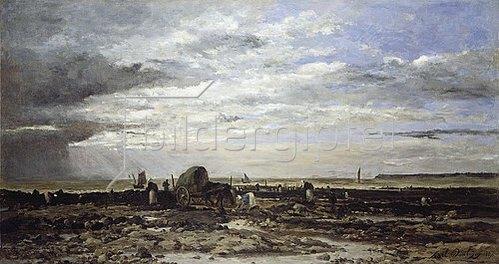 Charles-François Daubigny: Die Muschelbänke von Villerville. 1867