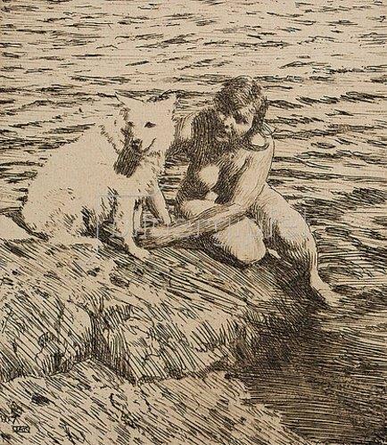 Anders Leonard Zorn: Sappho. 1917