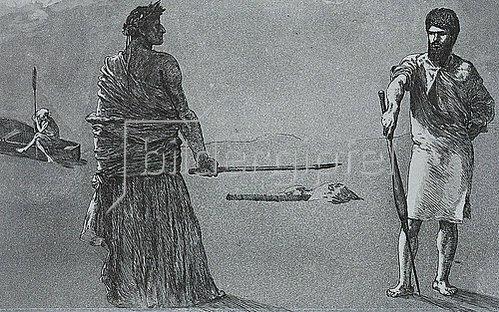 Max Klinger: Satyre, aus Opus II, Rettungen Ovidischer Opfer. 1891