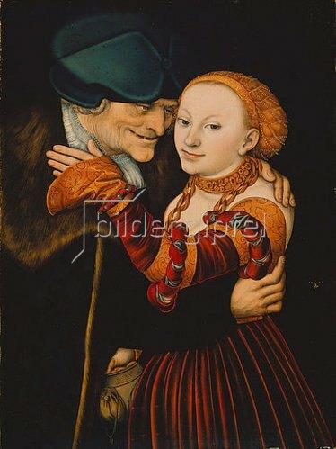 Lucas Cranach d.Ä.: Der alte Buhler.