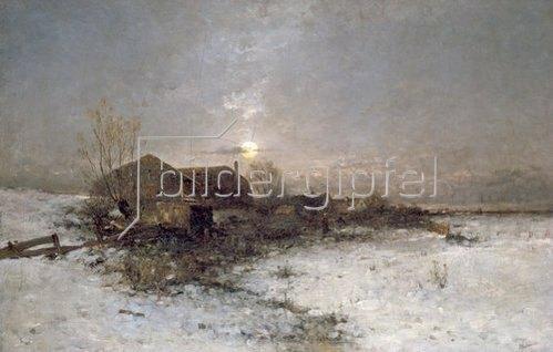 Anton Windmaier sen.: Winterlandschaft.