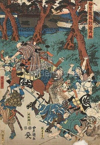 Utagawa Kunisada: Die Blutrache bei Iga, neu aufgelegt. Um 1847