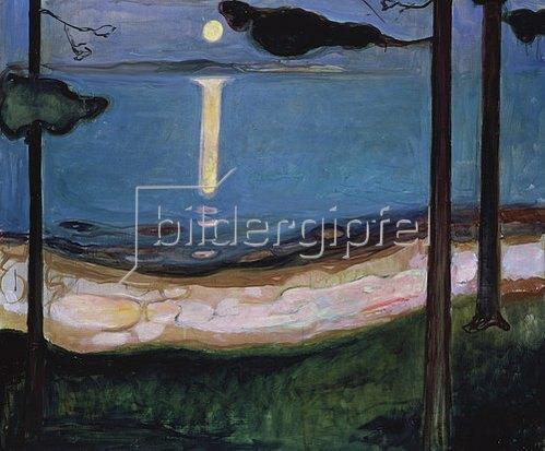 Edvard Munch: Mondnacht. 1895.