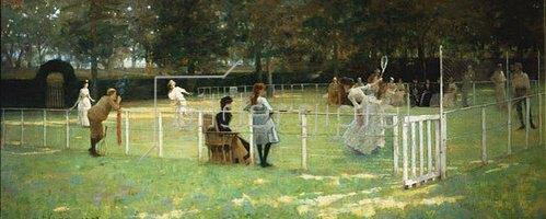 Sir John Lavery: Die Tennispartie. 1885.
