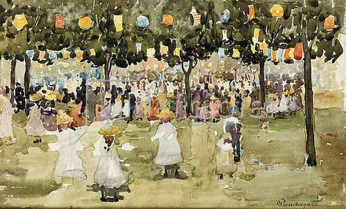 Maurice Brazil Prendergast: Der Central Park in New York am 4. Juli. Um 1900-03