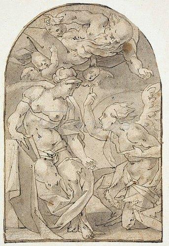 Rosso Fiorentino (Giovanni-Battista di Jacopo): Die Verkündigung an Maria.