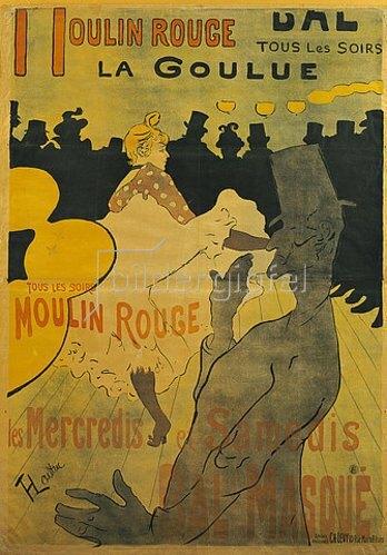 Henri de Toulouse-Lautrec: Moulin-Rouge, La Goulue. 1891