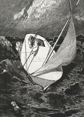 Max Klinger: Ein Handschuh - Rettung. 1882