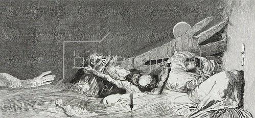 Max Klinger: Ein Handschuh - Ängste. 1882