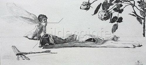 Max Klinger: Ein Handschuh - Amor. 1882