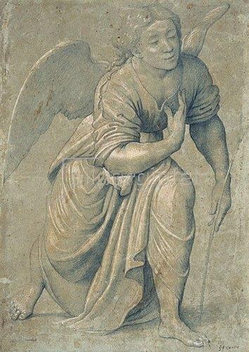 Giovanni Francesco Caroto: Engel der Verkündigung. Um 1528