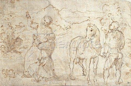Girolamo Romanino: Kaiser Augustus und die Sibylle. Um 1540/43